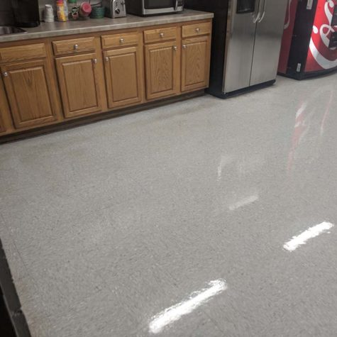 Office Kitchen Floor That Was Cleaned And Buffed By American Team Cleaning Solutions.