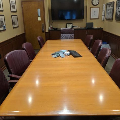 Conference Room Table That Was Polished By American Team Cleaning Solutions.