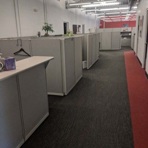 Office Carpet Down A Hallway Cleaned By American Team Cleaning Solutions.
