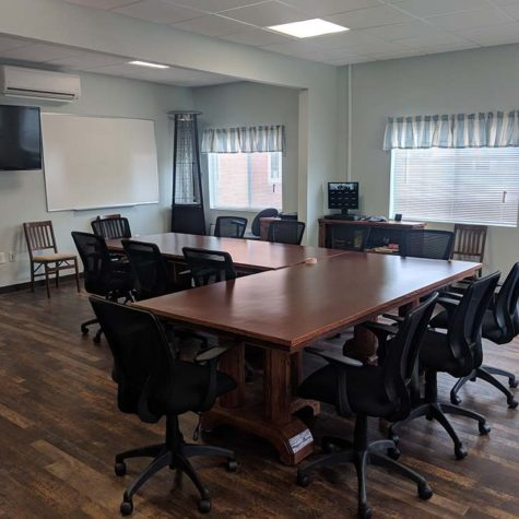 Office Floor And Tables Cleaned By American Team Cleaning Solutions.